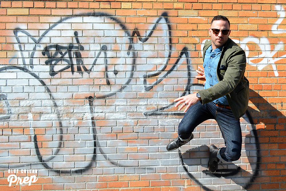Army Tough on Graffitti Wall